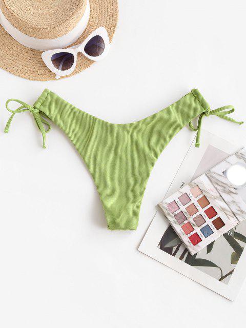 ZAFUL Bikiniunterteil mit Gerippten Bindebändern - Hellgrün L Mobile