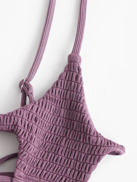 ZAFUL Costume da Bagno Bikini a Costine Incrociate a Goccia - Concordia S Mobile