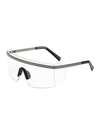 One-piece Anti-wind Oversized Sunglasses - Transparent