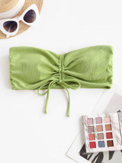 Bikini A Fascia A Costine Con Nodo Di ZAFUL - Verde Chiaro L