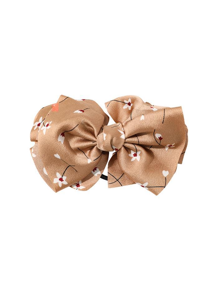 Floral Print Bowknot Hair Tie