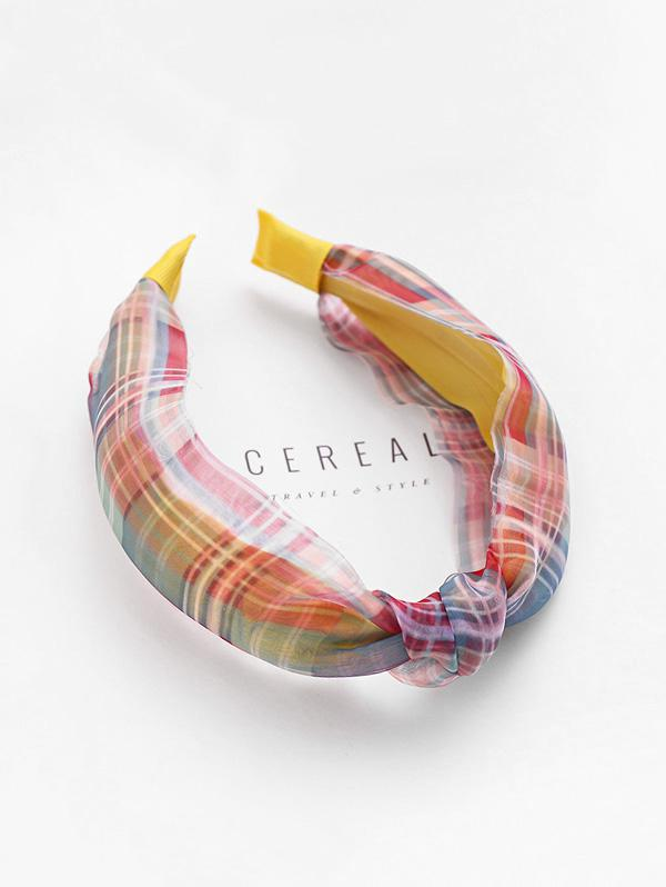 Plaid Print Fabric Knotted Headband