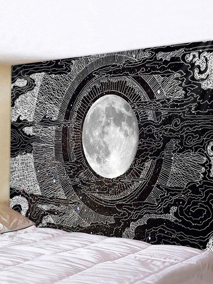 Earth Space Tunnel Print Removable Wall Tapestry