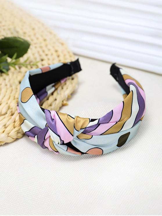 shop Colorful Striped Knotted Headband - GREEN