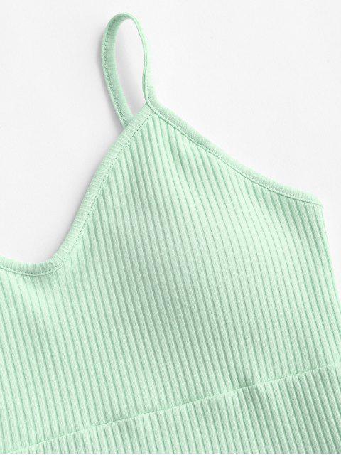 Camiseta Acolchoado com Nervuras - Luz verde M Mobile