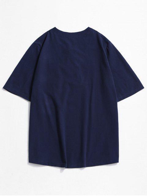 Camiseta Acanalada de Bolsillo con Cordones - Azul Profundo XL Mobile