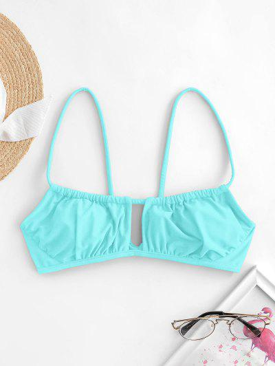 ZAFUL Cutout Bikini Top - Light Blue M