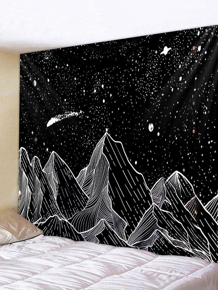 Painted Mountain Star Pattern Wall Tapestry