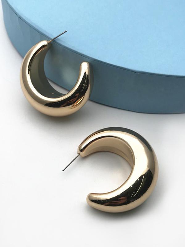 Metal C-shaped Earrings