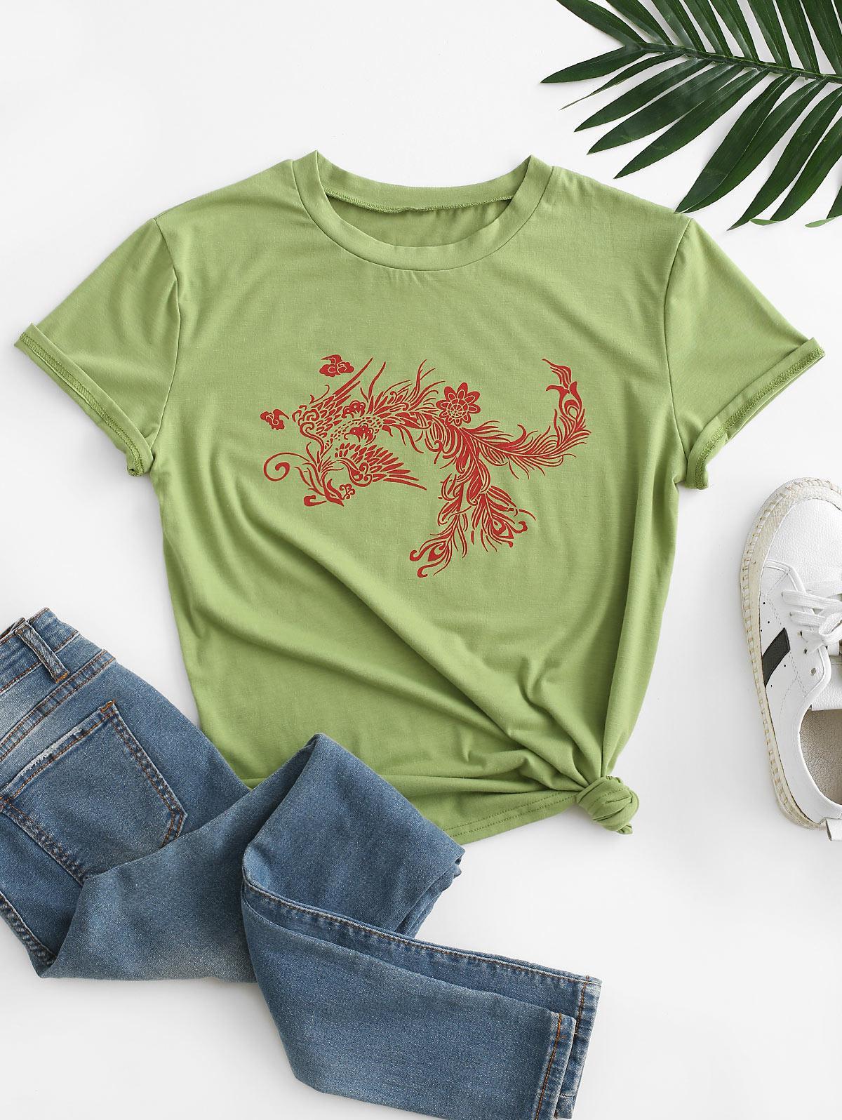 Dragon Print Oriental Tee