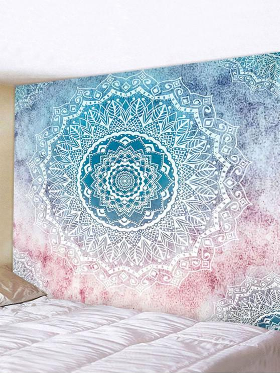 Gradient Bohemian Mandala Print Waterproof Tapestry - متعدد W91 x L71 بوصة