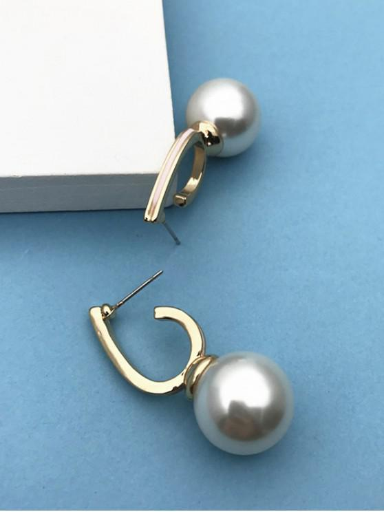 outfit Brief Faux Pearl Stud Drop Earrings - MILK WHITE
