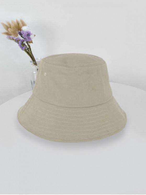 online Outdoor Solid Sunproof Bucket Hat - LIGHT KHAKI LIGHT KHAKI