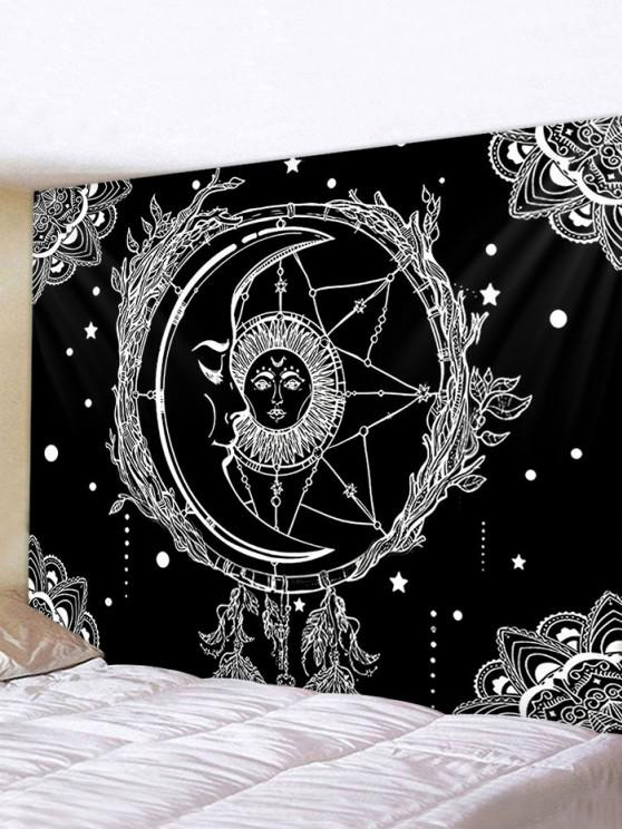 fancy Sun And Moon Digital Printing Waterproof Tapestry - MULTI W79 X L71 INCH
