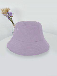 Outdoor Solid Sunproof Bucket Hat - Light Purple Light Purple