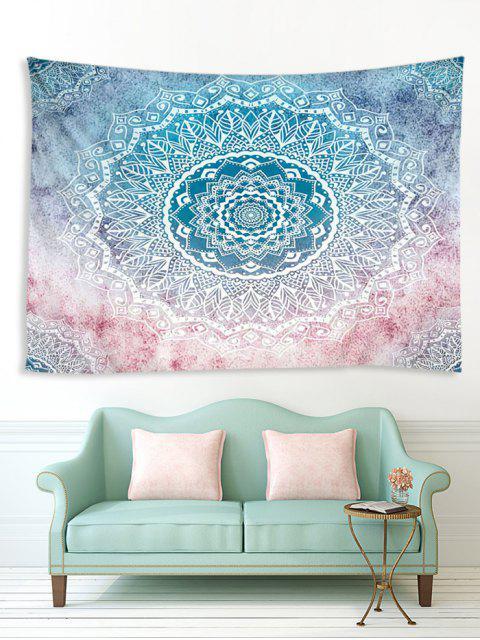 shops Gradient Bohemian Mandala Print Waterproof Tapestry - MULTI W91 X L71 INCH Mobile