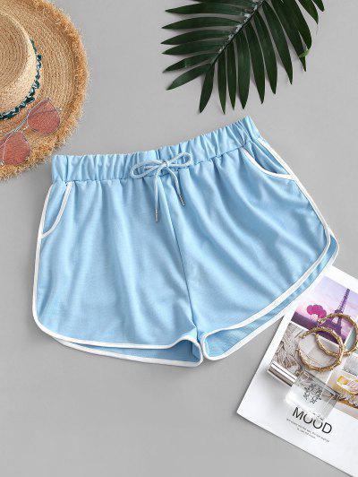 Drawstring Running Shorts - Jeans Blue M