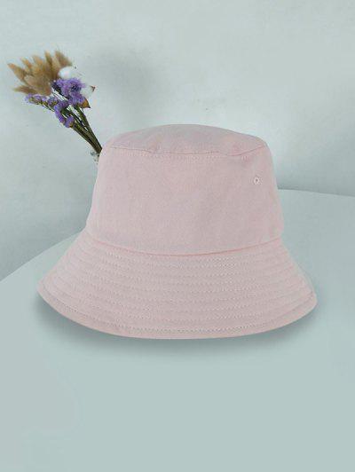 Outdoor Solid Sunproof Bucket Hat - Pink Pink