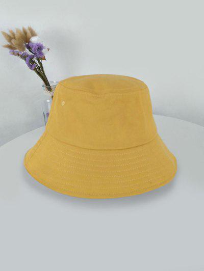 Outdoor Solid Sunproof Bucket Hat - Yellow Yellow