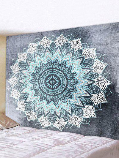 Digital Print Bohemian Mandala Waterproof Tapestry - Multi W91 X L71 Inch