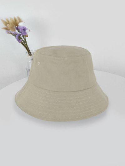 Outdoor Solid Sunproof Bucket Hat - Light Khaki Light Khaki