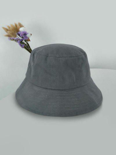 Для выхода Одноцветная Солнцезащитная Шляпа-ведро - Серый Серый