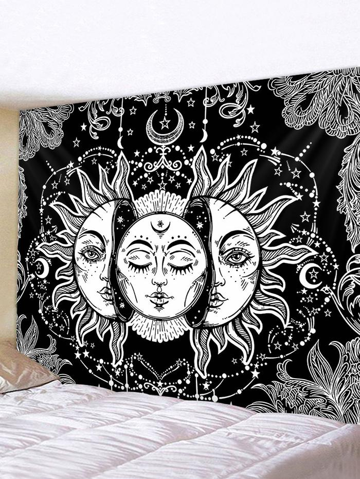 Digital Print Sun And Moon Face Waterproof Tapestry