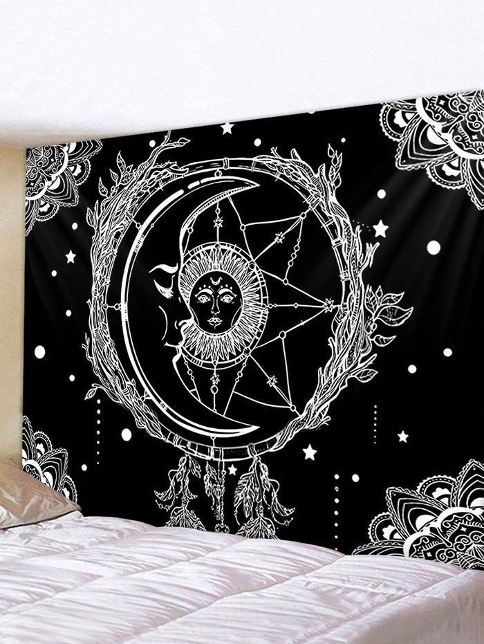 Sun And Moon Digital Printing Waterproof Tapestry