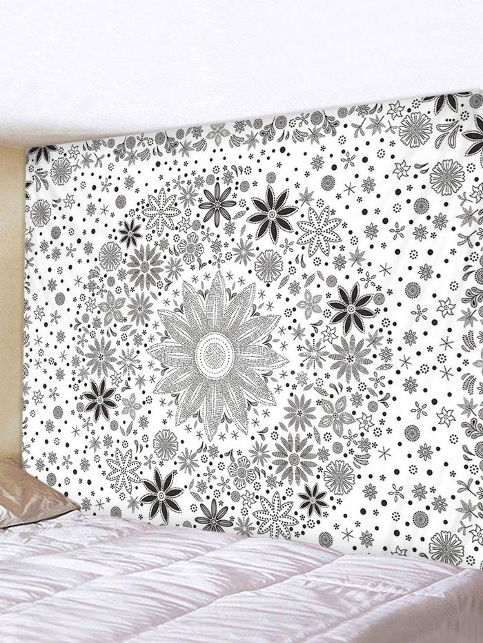 Bohemian Ditsy Floral Print Waterproof Tapestry