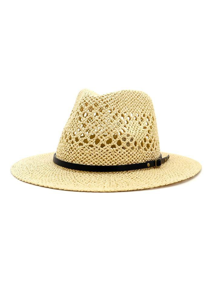 Travel Crochet Straw Panama Hat