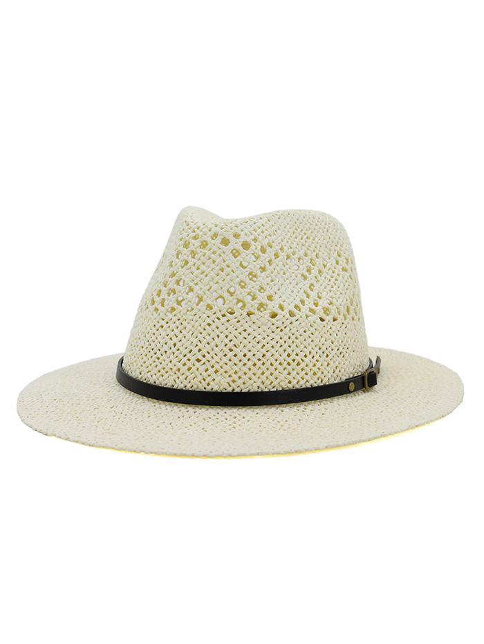 Travel Crochet Straw Panama Hat