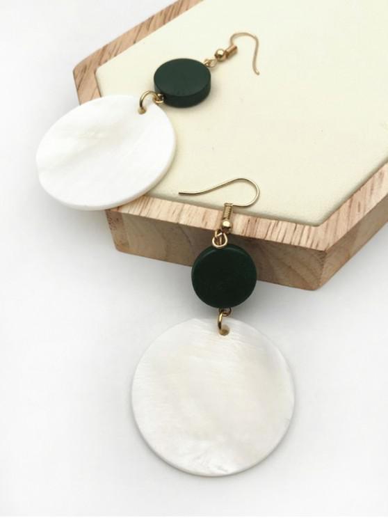 womens Round Shaped Drop Hook Earrings - SEA TURTLE GREEN
