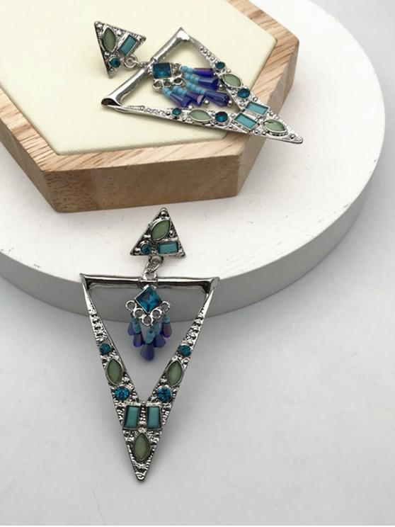 outfits Faux Gem Geometric Shape Drop Earrings - MULTI