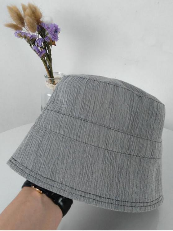 Solid Sunproof Bucket Hat - رمادي