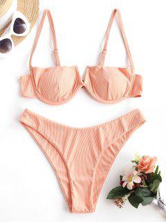 ZAFUL Bikini De Balconet Con Canalé - Luz Naranja S