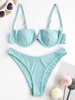 ZAFUL Bikini De Balconet En V Con Cable - Azul Claro M