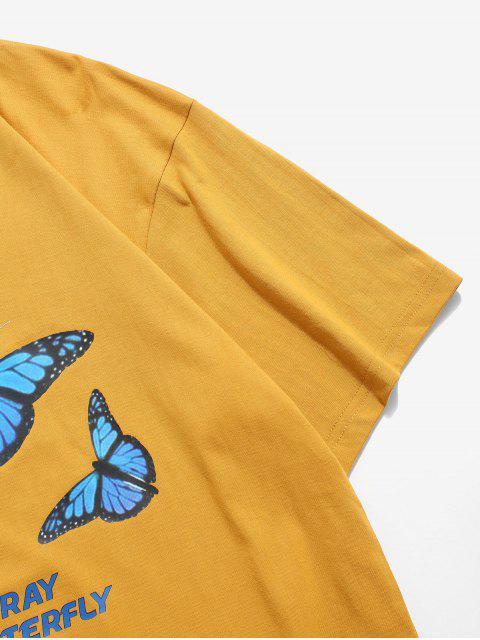 X Gráficas Básicas T-shirt - Ouro Laranja 3XL Mobile