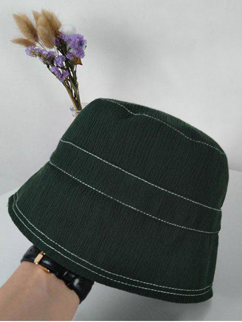 sale Solid Sunproof Bucket Hat - ARMY GREEN  Mobile