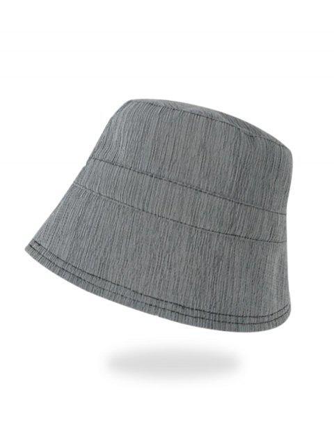 Einfarbige Sonnensicher Bucket Hut - Grau  Mobile