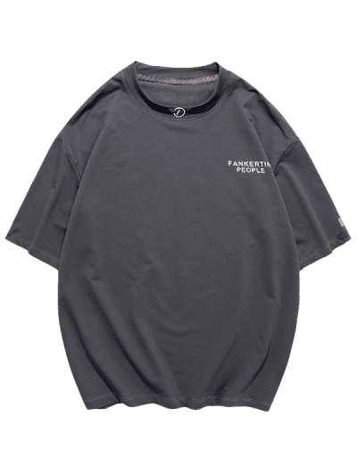 Graphic Print Basic T-shirt