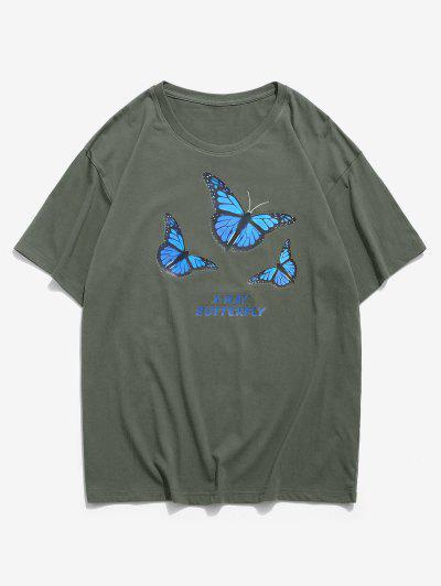 X Gráficas Básicas T-shirt - Verde 2xl