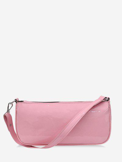 Bolsa De Ombro Pure Color Block Um Couro Sintético - Luz Rosa