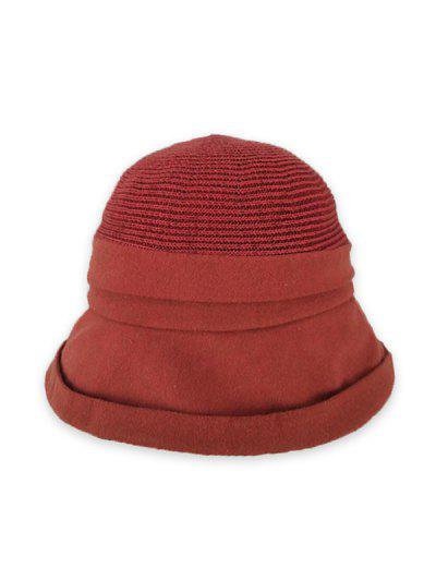 Pure Color Woven Bucket Hat - Rosso Ciliegia