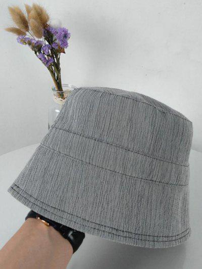 Solid Sunproof Bucket Hat - Gray