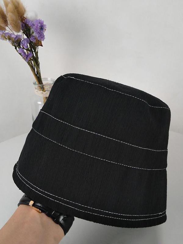 Solid Sunproof Bucket Hat