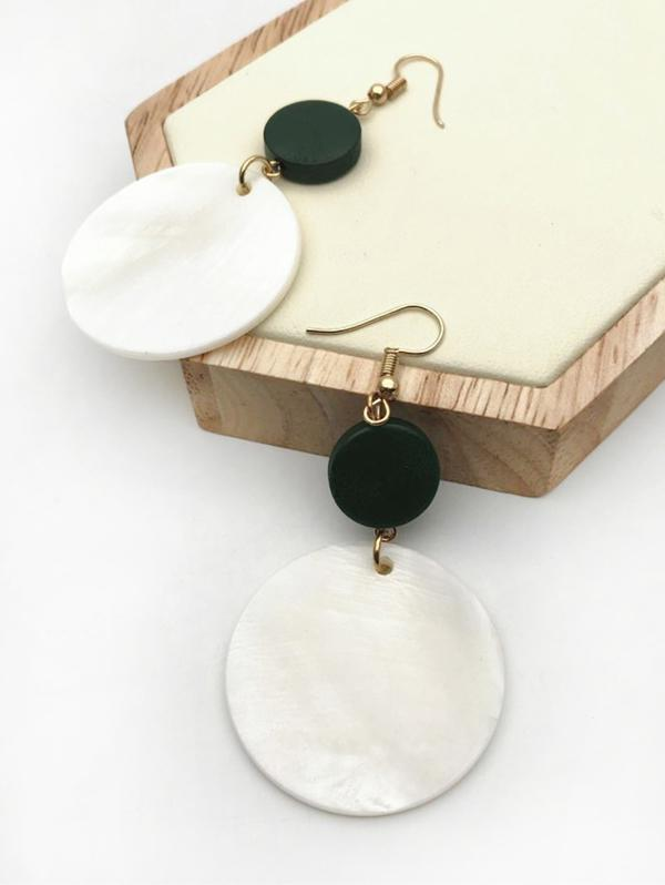 Round Shaped Drop Hook Earrings