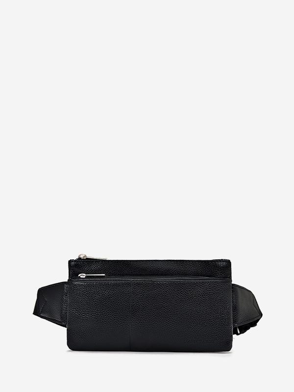 Plain Leather Adjustable Chest Bag