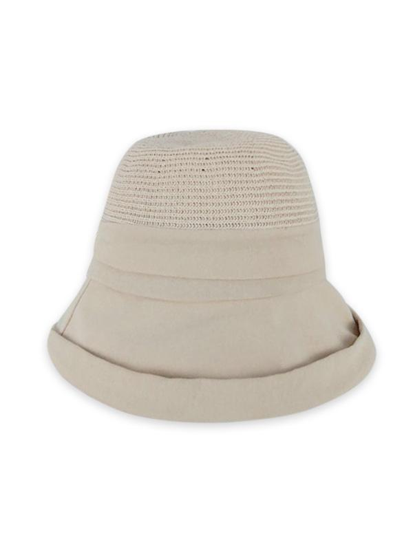 Pure Color Woven Bucket Hat