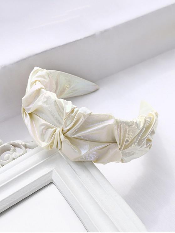 Crepe Lustrous Fabric Wide Hairband - أصفر فاتح