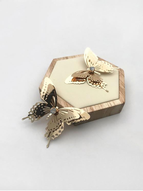 best Butterfly Hollow Out Stud Earrings - GOLDEN